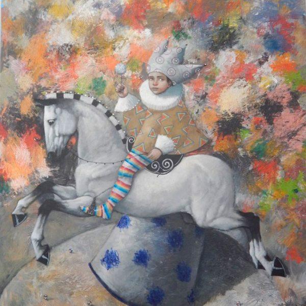 caballo-flores